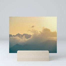 Clouds in the mountains III Mini Art Print