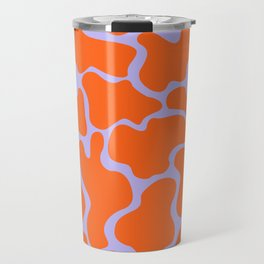 Red and Lilac Blobs Travel Mug