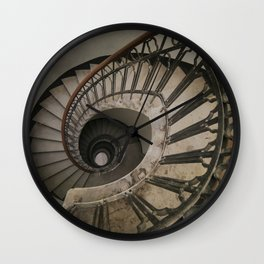Old brown staircase Wall Clock
