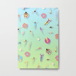 summer swim / pool pattern Metal Print