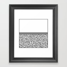 staklo (gray stripe) Framed Art Print