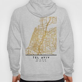 TEL AVIV ISRAEL CITY STREET MAP ART Hoody
