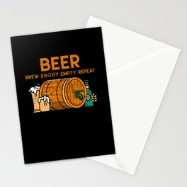 Beer Brew Enjoy Empty Repeat Stationery Cards