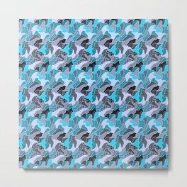 Next sweet Doodle,blue Metal Print