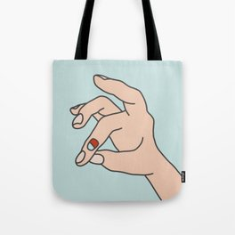 broken finger Tote Bag