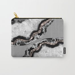 Yin Yang Agate Glitter Glam #9 #gem #decor #art #society6 Carry-All Pouch
