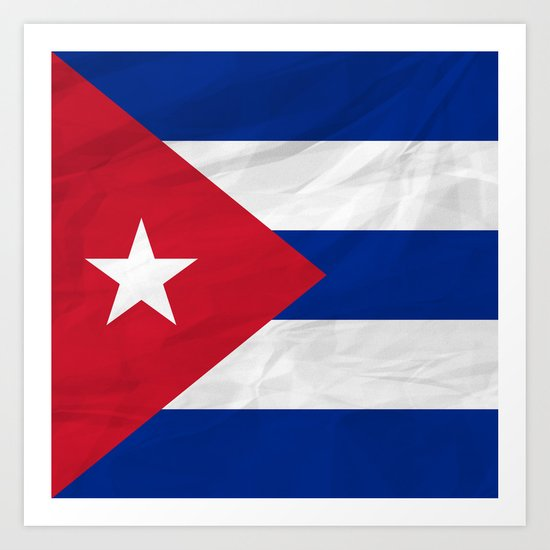 Cuba North America Flags Art Print By Samkaam Society6