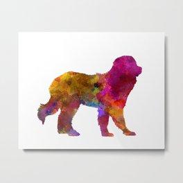 Pyrenean Mountain Dog in watercolor Metal Print