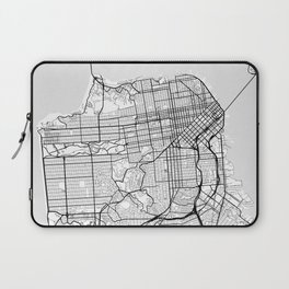 Scandinavian map of San Francisco Penninsula Laptop Sleeve