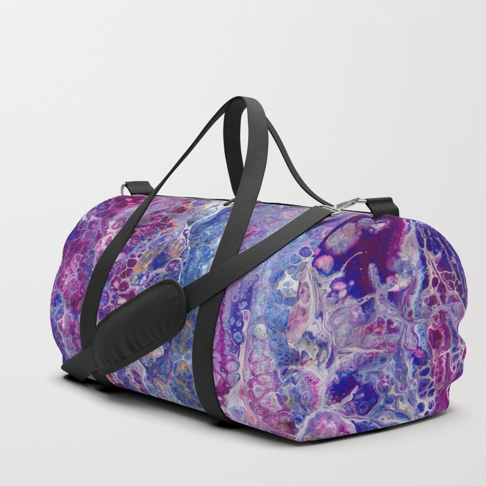 Psycho - Stream of Consciousness in Lively Color Flow by annmariescreations Duffle Bag
