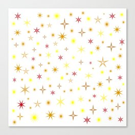 Star shapes of warm colors Canvas Print