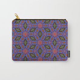 Vibrant blue hexagons Carry-All Pouch