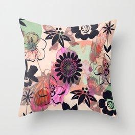 Muster/Pink/Blumen/Tiere/brittmarks Throw Pillow