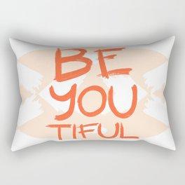 Be-You-Tiful #society6 #motivational Rectangular Pillow