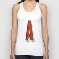 letter Tank Tops featuring Letter A by INDUR