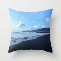 iceland Throw Pillows featuring Iceland by SvoSem