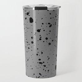 Retro Speckle Print - Grey Travel Mug