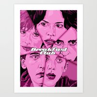 breakfast club Art Prints featuring Breakfast Club by David Amblard