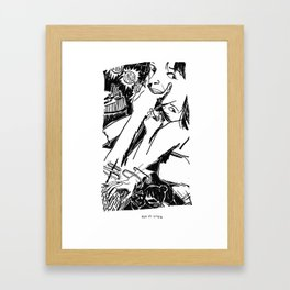 Until the Fingers Began To Bleed 2 Framed Art Print