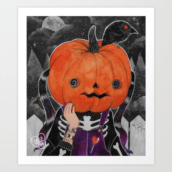 GOSH! I'M A PUMPKIN! Art Print