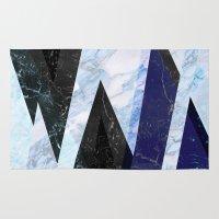 frozen Area & Throw Rugs featuring Marble stone ( frozen ) by Marta Olga Klara
