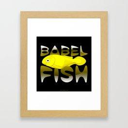 Babel fish Framed Art Print