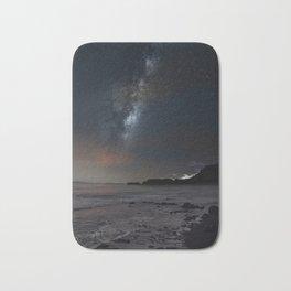 milky way Galaxy beach Bath Mat