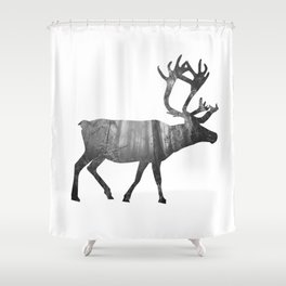 Moose Silhouette | Forest Photography Shower Curtain