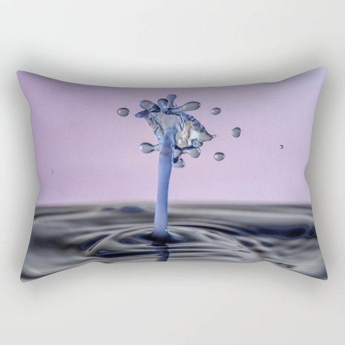 Blue water flower waterdrop Rectangular Pillow