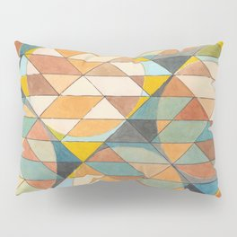 Triangles and Circles Pattern no.23 Pillow Sham