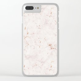 Vintage Rose Marble Gold Mine Clear iPhone Case