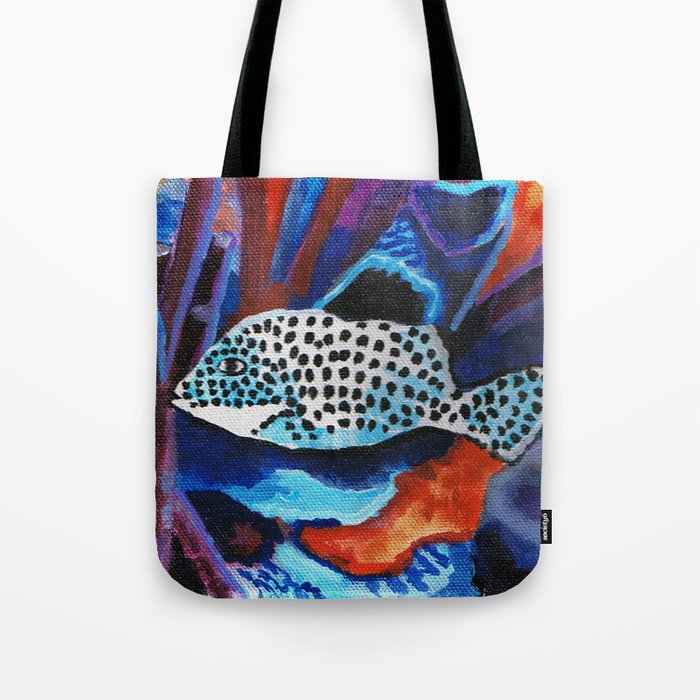 Tropical spotted fish Tote Bag