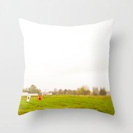 ghost field Throw Pillow