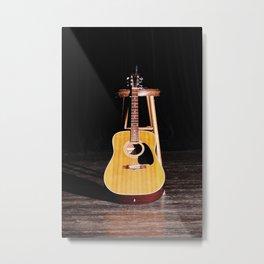 The Silent Guitar Metal Print