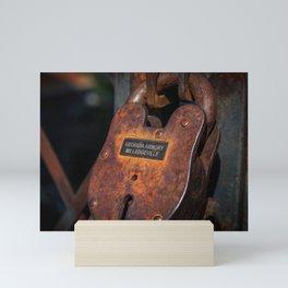 Rusty Lock Mini Art Print