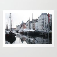 denmark Art Prints featuring Denmark by Kayleigh Rappaport