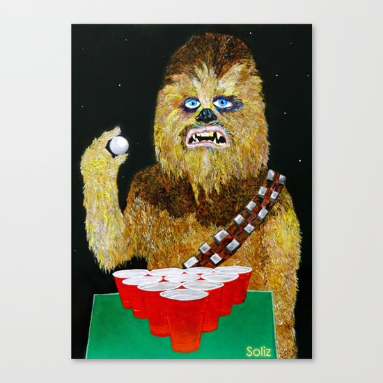 BEER PONG WOOKIE Canvas Print