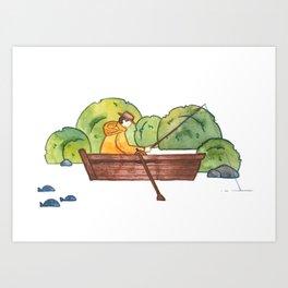 Fisherman - print Art Print