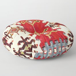 Burdur  Antique South West Anatolia Turkish Kilim Print Floor Pillow