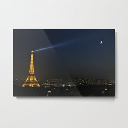 Paris at Night Metal Print