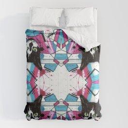 Mind Control Tuxedo Kitty  Comforters