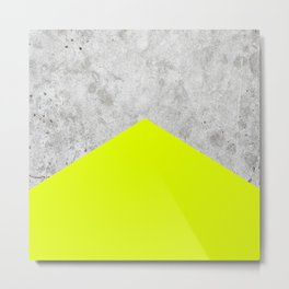 Concrete Arrow - Neon Yellow #521 Metal Print