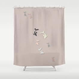 Starry Night - Illustration  Shower Curtain