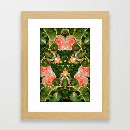 Pattern of pink roses 01 / Sleeping Beauty Framed Art Print