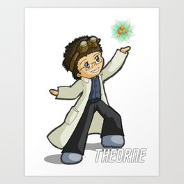 Physics Not Included Chibi Art Print