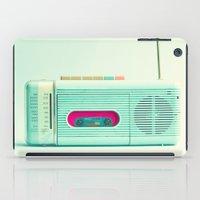 radio iPad Cases featuring Radio Days  by Caroline Mint