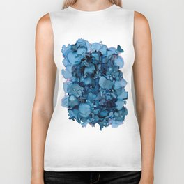 Indigo Abstract Painting | No. 8 Biker Tank