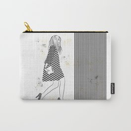 Black/White Abstract Modern Fashion Carry-All Pouch