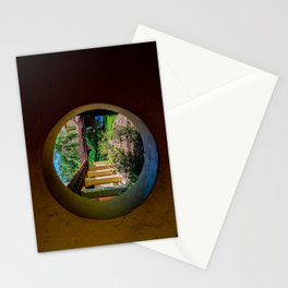 Circular Window In the Corrin Hall Loggia Rollins College Winter Park Central Florida Orlando Stationery Cards