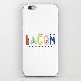 Lagom colors iPhone Skin